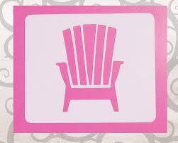 Adirondack Chair Place Card Holders Adirondack Chair Stencil Beach Chair Stencil Mylar