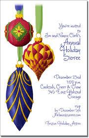 Christmas Ornament Party Invitations - ornate christmas tree ornament holiday party invitations