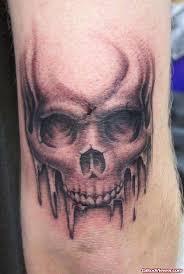 Skull Viewer Grey Ink Skull Elbow Tattoo Tattoo Viewer Com