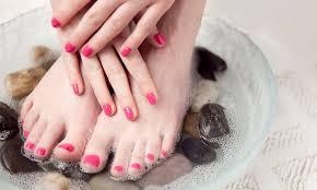 mani pedis or gel mani natural nails by nicole groupon