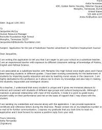 ideas collection sample application letter for secondary teacher