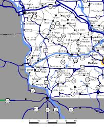 map of southwest south wisconsin highway map