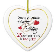 parents 25th anniversary ornaments keepsake ornaments zazzle