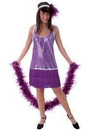 Cheap Size Womens Halloween Costumes Purple Size Flapper Dress