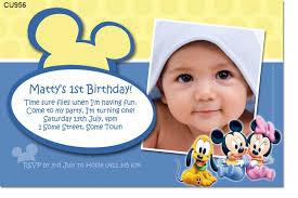baby birthday invitation template ba mickey mouse invitations