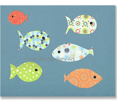 Fish Nursery Decor Fish Nursery Decor Sea Creature Blue Green Orange Nursery