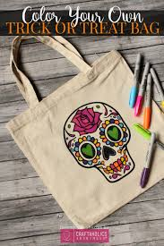 craftaholics anonymous color your own trick or treat bag