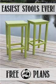 Free Plans For Garden Furniture by Easiest Bar Stools Ever Free Diy Plans Diy Stool Rogues And