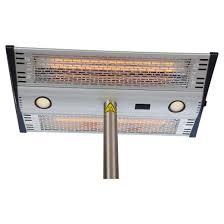 Fire Sense Patio Heater Review Morrison Dual Head Floor Standing Halogen Patio Heater Fire