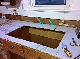 Countertop Kitchen Sink How To Make Diy Cast In Place White Concrete Countertops Do It