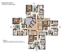 typical floor plan swancourt appartments in rajarhat master floor plan and unit plans