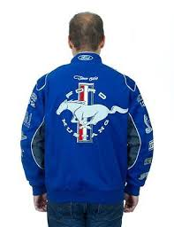 ford mustang jacket ford mustang jacket royal blue twill jacket embroidered logos