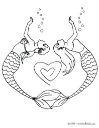 group mermaids mermaid couple drawing heart coloring
