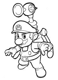Super Mario Sunshine Coloring Pages Free Coloring Library