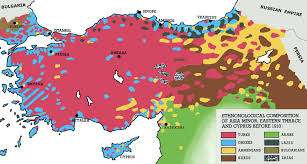Map If Asia by Ethnic Map Of Asia Minor Eastern Thrace And Cyprus 1910 2002