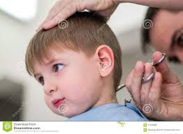 happy kid having haircut stock photo image 57033688