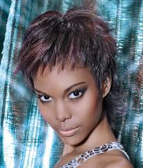 pixie for black hair point cut layers frame the face