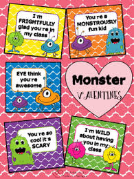 themed sayings valentines monsters and students