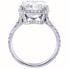 Cushion Cut Halo Diamond Engagement Ring In Platinum 2 13 Ct U Setting Princess Cut Halo Diamond Engagement Ring G Vs1