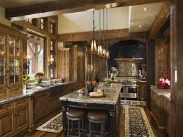 rustic contemporary kitchen design warm style of the rustic