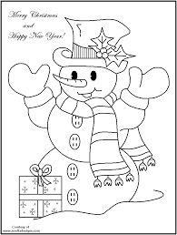 christmas snowman coloring pages getcoloringpages