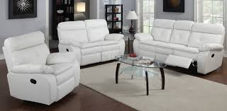 White Reclining Sofa G577a Reclining Sofa Loveseat In White Bonded Leather By