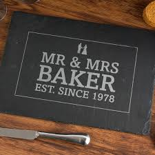 60th wedding anniversary gift personalised slate cheeseboard anniversary gettingpersonal co uk