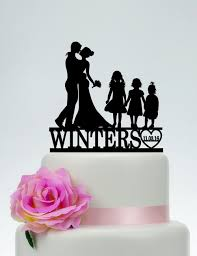 family cake toppers family cake toppercustom wedding topperbride and groom with