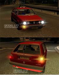 mod car game euro truck simulator 2 golf mkii gti ai car ets 2 mods