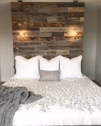 reclaimed weathered wood wood headboard woods and walls