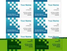 microsoft office word business card templates in word business