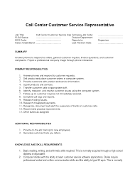 Finance Advisor Job Description Call Center Resume Sample With No Experience Call Center 100