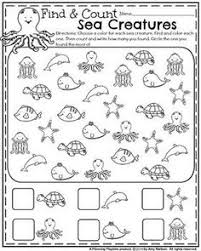 count and write the number of summer items printable worksheets