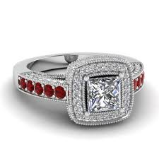 halo rings red images Princess cut traditional square halo diamond engagement ring with jpg