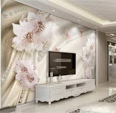 Bathroom Wallpaper Modern - aliexpress com buy custom 3d wallpaper luxury flowers 3d photo