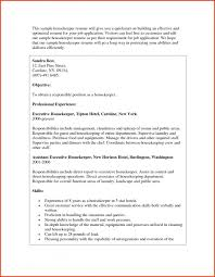 Executive Housekeeper Resume Cover Letter Housekeeper Resume Examples Housekeeper Resume