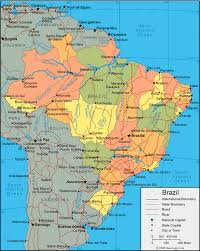 map of brazil brazil map and satellite image