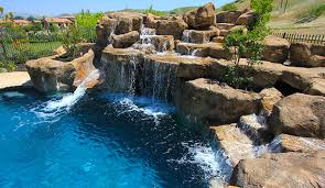 waterfalls for inground pools water features swimmingpool com