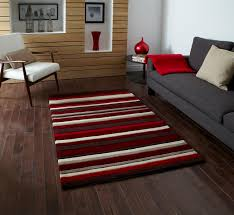 Modern Rugs Uk by Red Stripe 100 Acrylic Rug Large Hand Tufted Hong Kong Mat