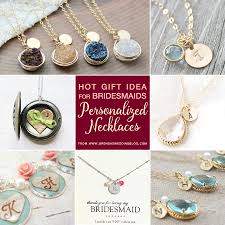personalized monogrammed necklaces are a gift idea for bridesmaids
