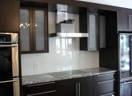 White Glass Backsplash Kitchen - White glass backsplash tile