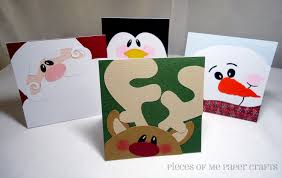 handmade christmas cards pieces of me scrapbooking paper crafts winter faces christmas cards