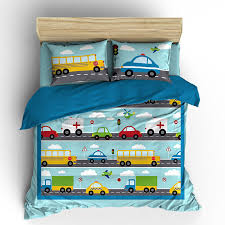 Cars Duvet Cover 175 Things That Go Vroom Theme Kids Duvet Cover Pillow Case Cars