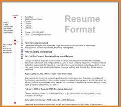 resume making format format of resume latest resume format standard resume format 2016