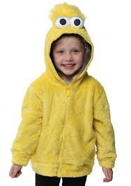 kids costume sesame big bird faux fur costume hoodie for kids