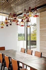 Glass Chandeliers For Dining Room Blown Glass Pendant Lighting Ideas For A Modern And Sleek Glow