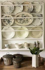 Shabby Chic Plate Rack by Scandinavian Plate Rack With Assorted Blue Plates Blue U0026 White
