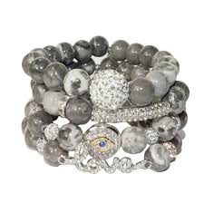 bracelet sets images Sea jewels grey bracelet set no 1 a kan bijoux png