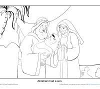 coloring page abraham and sarah abraham coloring page printable abraham had a son