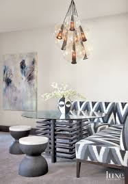 eclectic neutral dining room detail luxesource luxe magazine